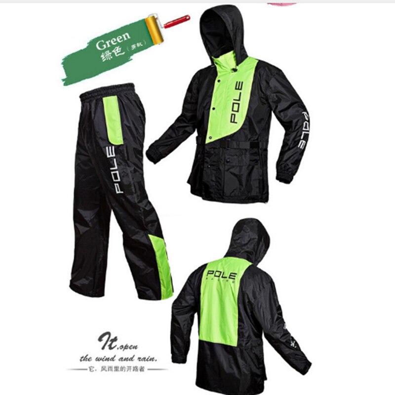 Impermeable de moda para hombre y mujer impermeable traje de motocicleta chaqueta de lluvia poncho de gran tamaño lluvia abrigo de deporte al aire libre-in Chubasqueros from Hogar y Mascotas    2