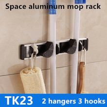 Bathroom Accessories Space Aluminium Mop Racks storage tool holder Wall Mounted storage organizer broom storage holders rack