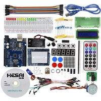 Starter Kit For Arduino Step Motor Servo 1602 LCD Breadboard Jumper Wire UNO R3 KIT Free