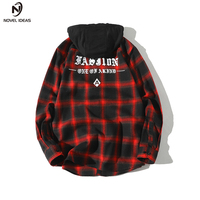 Novel Ideas Men S Shirt 2018 Spring Summer New Brand Hip Hop Fake Two Hooded Removable