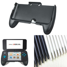 все цены на Hand Grip Protective Support Case for Nintendo NEW 2DS LL 2DS XL Console Gamepad HandGrip stand+10pcs Screen Touch Stylus Pen онлайн