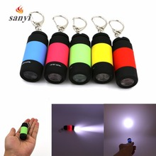 Hot Selling USB Rechargeable Mini LED Torch Lamp Light Flashlight USB Charging Keychain Flashlight Lanterna Built in Battery