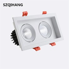 COB Double-Headed Spotlights Grille Single Head Two 10w 20w Square Furniture Shop Lamp AC85-265V