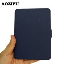 Extremely Slim PU Leather-based Protecting Cowl for Amazon Kindle Voyage 6inch 6″ Pill eBook eReader Flip Case