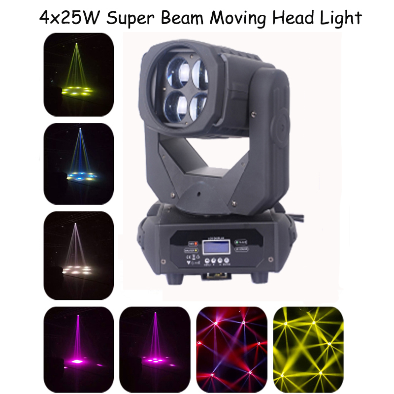 4x25w LED Stage Light super beam shaking head light KTV bar Disco bar shaking head light beam V-LM254