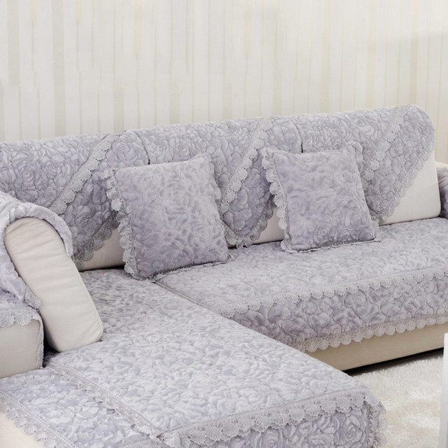 Sofa Seat Mat Covers Couch Slip Sectional Sofas Chair Slipcovers Lace Furniture Protect