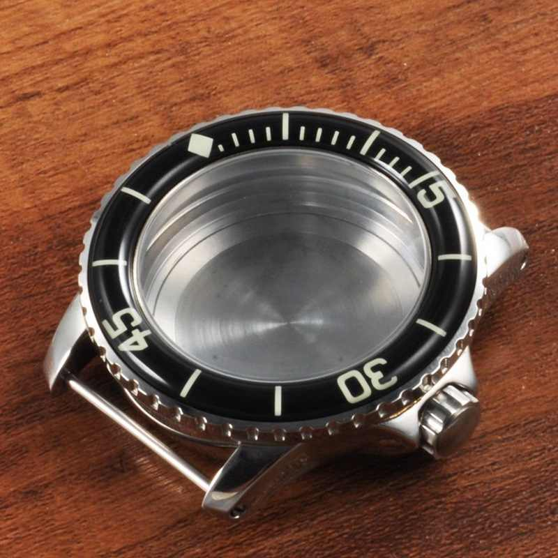 Watch Part, 45mm Corgeut 45mm Black Bezel Watch Case Fit for ETA 2824 2836 / Miyota 82 Series Automatic Movement 2019CAB