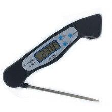 Складной термометр для еды, запрограммированный цифровой кухонный инструмент для приготовления пищи, барбекю, вилка для мяса, барбекю, датчик температуры типа TP108