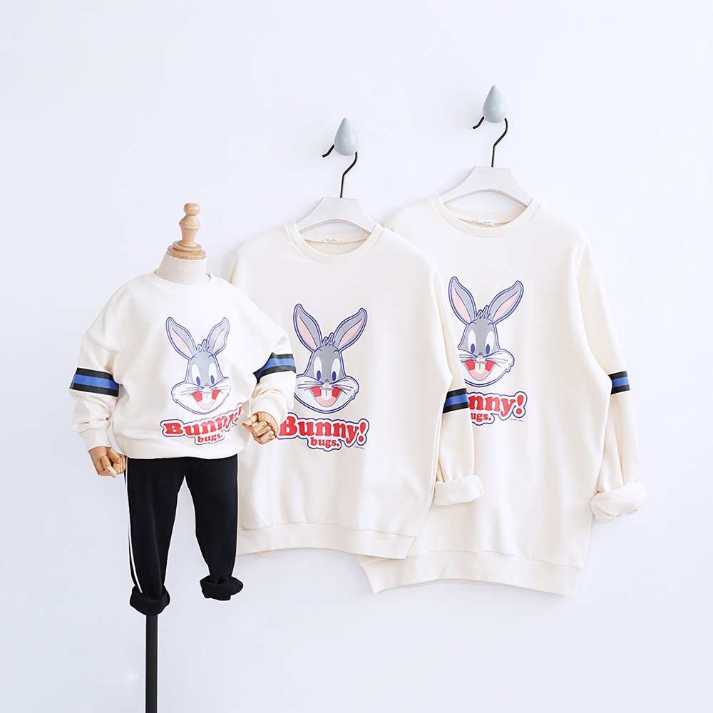 HT2216 Spring Tops Autumn Cartoon Sweatshirt Mother Daughter Father Son Costume Kids T shirt Baby Outwear Family Matching Outfit