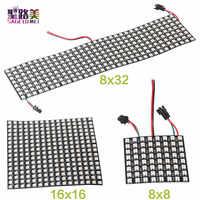 P10mm 16*16 pixels 256leds flexible mini led matrix ws2812 WS2812b