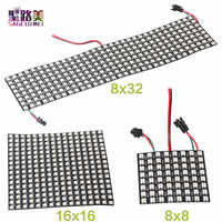 DC5V 8*8,16*16,8*32 Pixels WS2812 Digital Flexible LED Programmed Panel Screen Individually Addressable Full Color Display Board