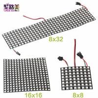 Dc5v 8*8 16*16 8*32 pixels ws2812 digital flexível led programado painel de tela individualmente endereçável cor cheia placa de exibição|Módulos de LED| |  -