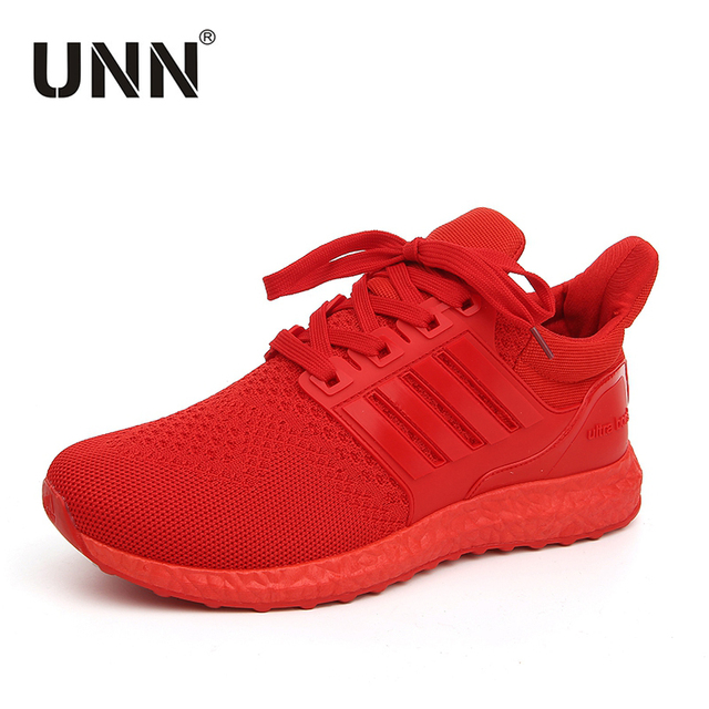 UNN Sneakers For Men Shoes Casual Newest Trainer Running Shoes Red Breathable Flykints Summer Sneaker Men's Track Shoe Black