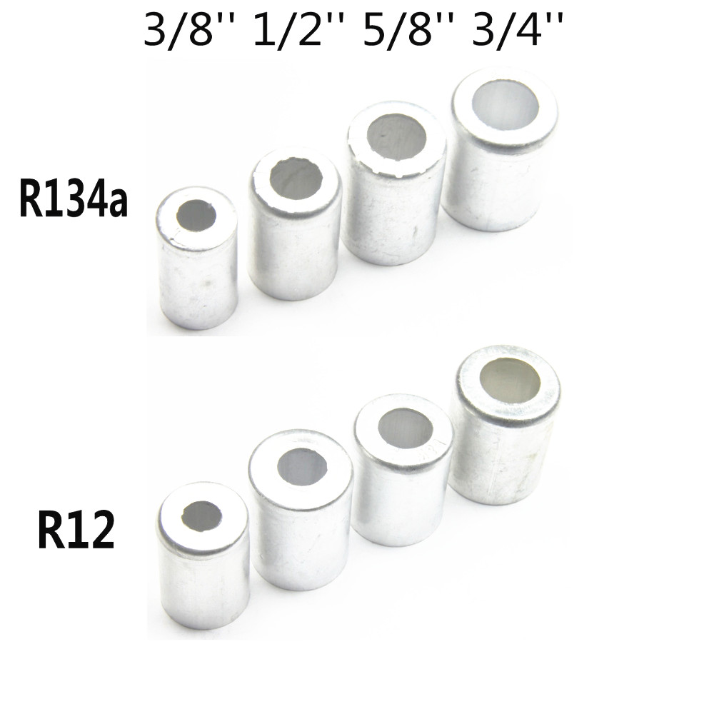 40PCS R134a R12 Aluminum Auto A C Air Conditioning Standard Reduced Barrier Refrigerant Hose For Car