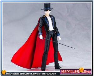 """Image 4 - Anime """"joli gardien marin lune"""" Original BANDAI Tamashii Nations SHF S.H. Figurine Figuarts masque de smoking"""