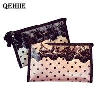 Lace Dot Cosmetic Bag PVC Waterproof Cosmetics Ladies Cosmetic Bag Storage Bag Small Dot Dot Travel