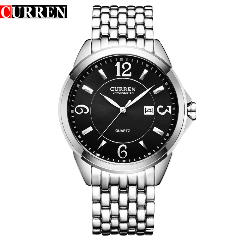 2016 New CURREN Fashion Casual Quartz Watch Men Waterproof  Watches Full Steel wristwatches relogio masculino 8071 2017 new top fashion time limited relogio masculino mans watches sale sport watch blacl waterproof case quartz man wristwatches