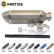 ZS MOTOS 51mm Akrapovic Motorcycle Exhaust Modified Scooter Muffle With DB Killer For GY6 CRF 230 MSX 125 ATV Dirt Bike