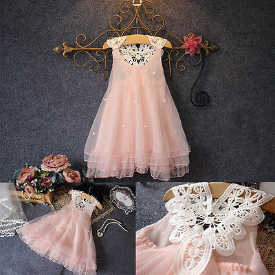 Girl Dress Pink Baby Girl Pakaian Summer Lace Flower Tutu Princess Kids Dresses For Girls, vestido infantil, Kid Clothes