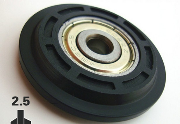 Free Shipping 608zz 6*40*8 mm pom plastic roller wheel Miniature Ball Bearings NYLON pulley