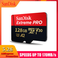 Genuine SanDisk EXTREME PRO memory card micro sd 128gb 64gb 170MB/s micro SD TF card 32 gb class10 flash card A2 For 4K HD Video