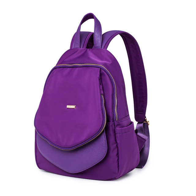 Aliexpress.com : Buy 2016 new women purple nylon softback backpack ...