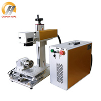 Portable 20W Fiber Laser Marking Machine For Stainless Steel Marking Metal Laser Engraver Machine