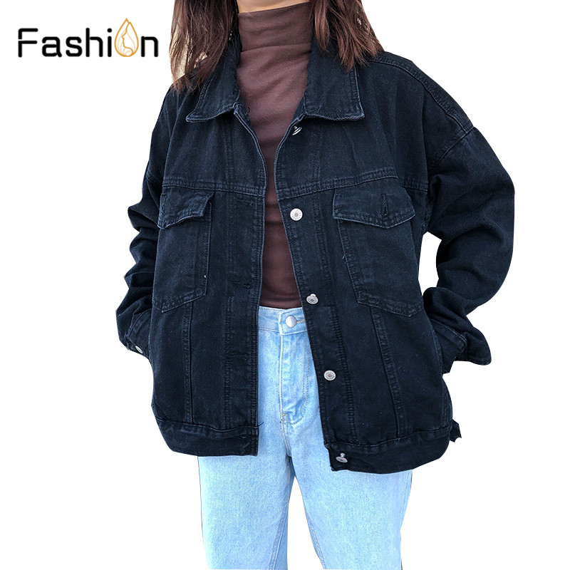 Jeans Jackets Coat Outwear Windbreaker Spring Long-Sleeve Female Girls Vintage Slim Women