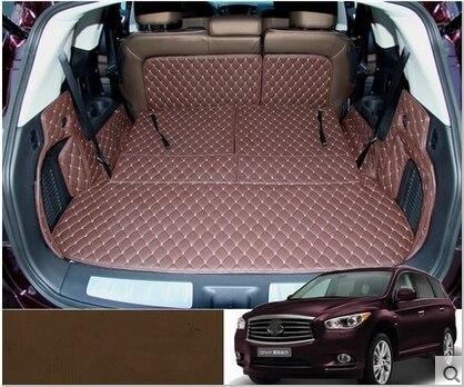 De alta qualidade! Conjunto completo esteiras mala do carro para Infiniti QX60 7 assentos 2018-2013 boot forro de carga tapete tapetes à prova d' água para QX60 2016