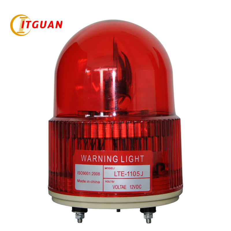 LTE-1105J Rotary Warning Light Alarm Industrial Emergency Strobe Light Beacon Tower Signal With Sound 90dB lte 5071j led strobe warning light alarm dc12v 24v ac220v signal emergency lamp with buzzer sound 90db beacon light