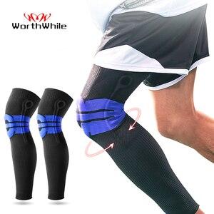 Image 1 - Moeite waard Elastische Silicon Padded Basketbal Kniebeschermers Ondersteuning Patella Brace Kneepad voor Fitness Gear Volleybal Sport Protector