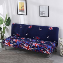 American style Universal Stretch Sofa Bed Slipcovers Without Armrest Dark Blue Anti-dirty Sofa Bed Covers Elastic Cheap Cover(China)
