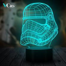 VCity 3D Night Light Led Table Lamp Stormtrooper Lamplight USB Wireless Portable Mood Multicolor Change Luminaria