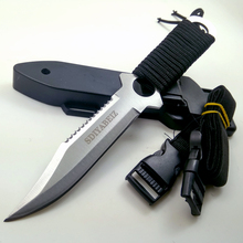 Fixed Blade Knife Hunting Stainless Steel Tactical Knives Outdoor Camping Hand T