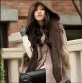 Новый русский стиль меховая шапка с шарфом для женщин и мужская зима теплая ухо защиты подлинная норки вязаные шапки шарфы