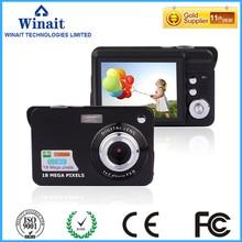 "HD 18MP cámara digital con 2.7 ""TFT pantalla de la cámara/cámara 4x zoom digital con batería de litio recargable libre gratis"