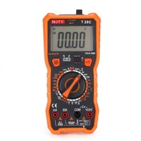 T28C Digital Multimeter DC/AC Voltage Current Meter Mini Ammeter Ohm Diode NCV Tester True RMS 6000 Counts Multitester