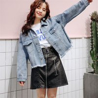 Spring Fashion Coat Woman Spring trend Long Sleeve Button Fashion New Demin Jacket