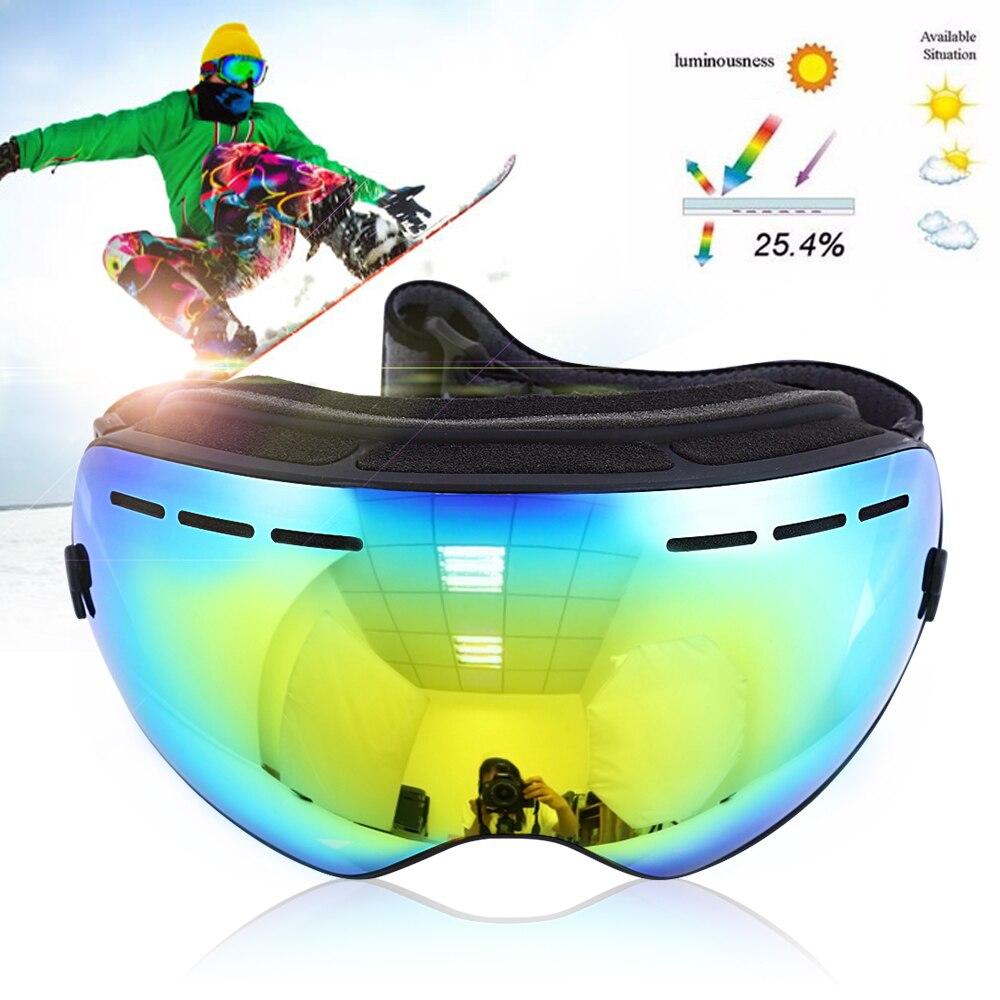 Prix pour Universel Des Lunettes De Ski Ski Lunettes Double Couches UV400 Anti-Brouillard Grand Masque de Ski Lunettes de Ski Hommes Femmes Neige Snowboard lunettes
