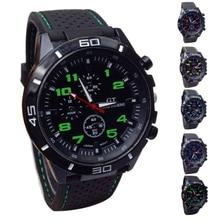 Мужские часы Топ бренд Роскошные Кварцевые часы мужские военные часы спортивные наручные часы силиконовый ремешок bayan kol saati