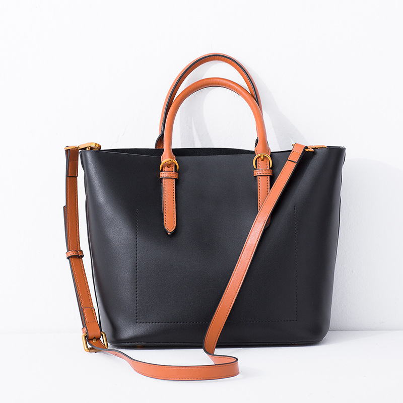 MORESHINE women bag Genuin leather Handbags New sale Laides panelled design shoulder