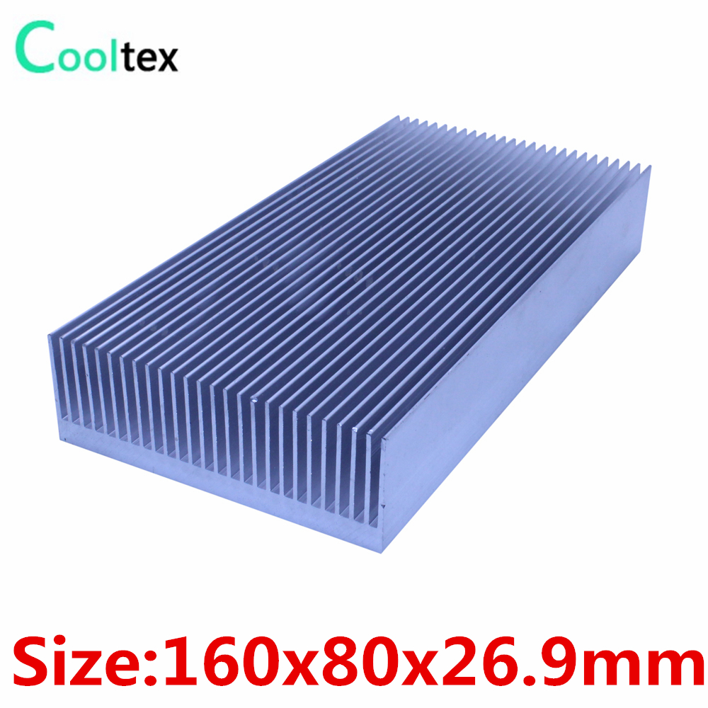 High power 160x80x26.9mm radiator Aluminum heatsink Extruded  heat sink for Electronic LED Power Amplifier cooler cooling цена и фото