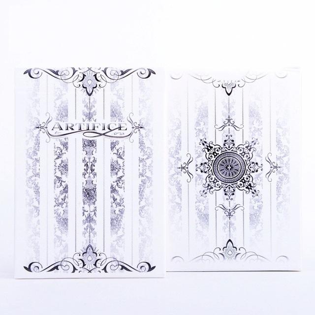 1 unids Ellusionist Artificio Tundra Cartas Mágicas de Póquer Naipe Cubierta Blanca Close Up Trucos Magia de Escenario para el Mago Profesional