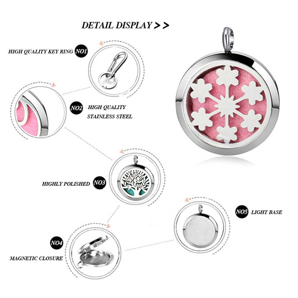 3a062ca7c ... Stainless Steel Aromatherapy Keychain Jewelry Tree Pattern Hollow  Aromatherapy Perfume Locket Key Chain Hook Floating Locket ...