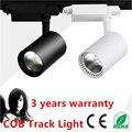 20W 30W COB Led Track light Track aluminum Ceiling Rail Track lighting Spot Rail Super Bright Indoor Lighting AC85-265V