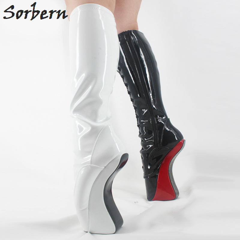 Sorbern Extreme High Heels 18cm/7 Heelless Boots Sexy Fetish Shoes Hoof No-Heel Over knee Boots Ladies Crotch High Boots NewSorbern Extreme High Heels 18cm/7 Heelless Boots Sexy Fetish Shoes Hoof No-Heel Over knee Boots Ladies Crotch High Boots New