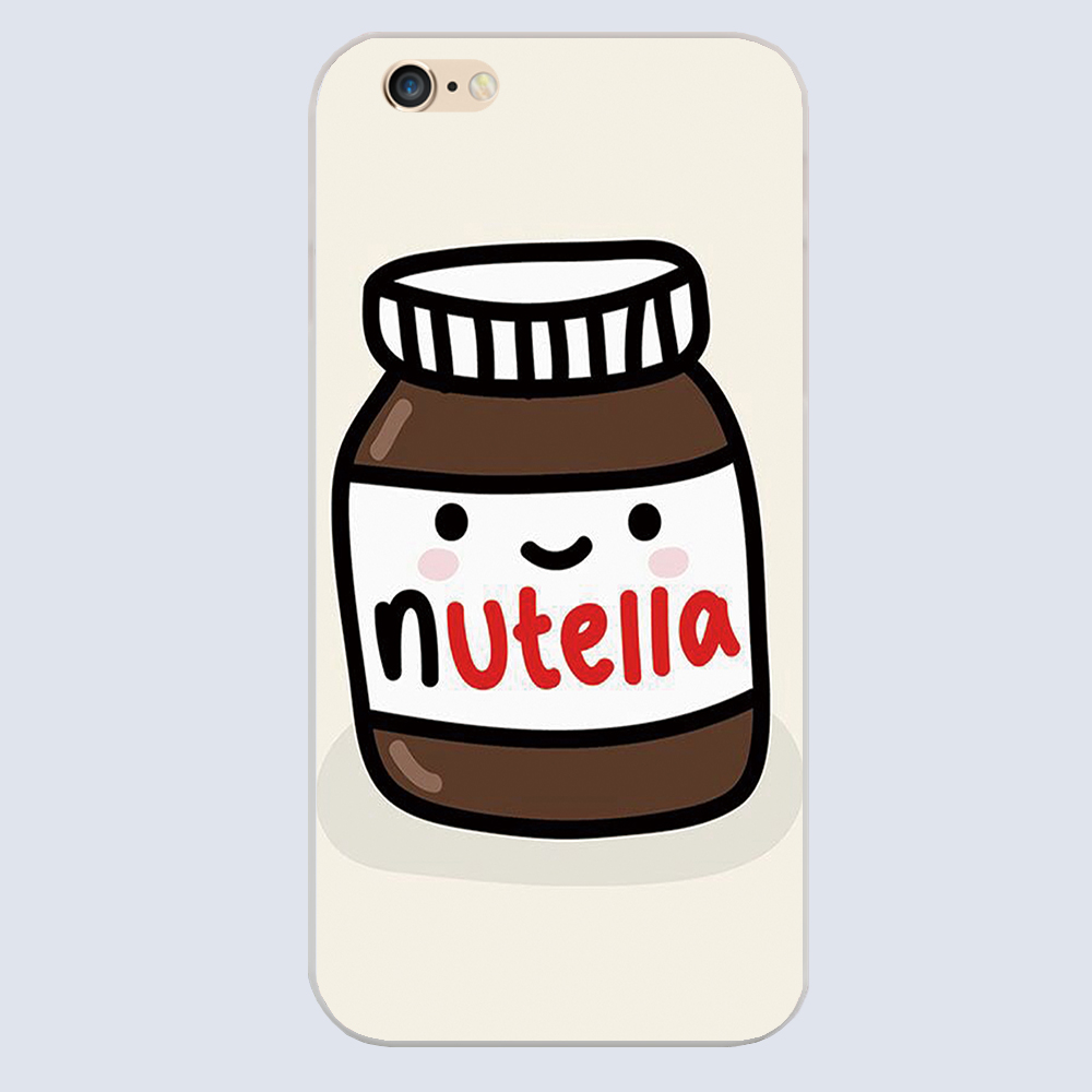 NUTELLA ART Design Cover case for iphone 4 4s 5 5s 5c 6 6s plus samsung galaxy S3 S4 mini S5 S6 Note 2 3 4