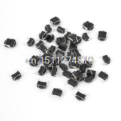 цена на 55Pcs Momentary PCB Pushbutton Tact Tactile Switch DIP 2 Pins 3mmx6mmx4.3mm