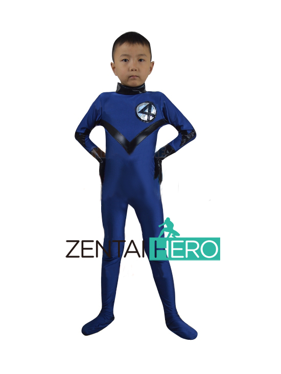 Free Shipping DHL Children's Halloween Costume Cheap Fantastic Four Cosplay Kids Superhero Spiderman Costume XWHK08