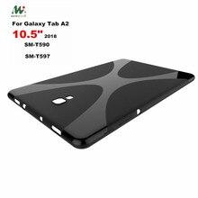21e5a4ff7c1 X Shape Soft Silicone TPU Back Cover Case For Samsung Galaxy Tab A A2 10.5